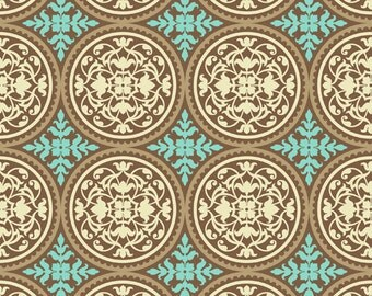 True Colors, Scrollwork in Caramel by Joel Dewberry for Free Spirit Fabrics 4073