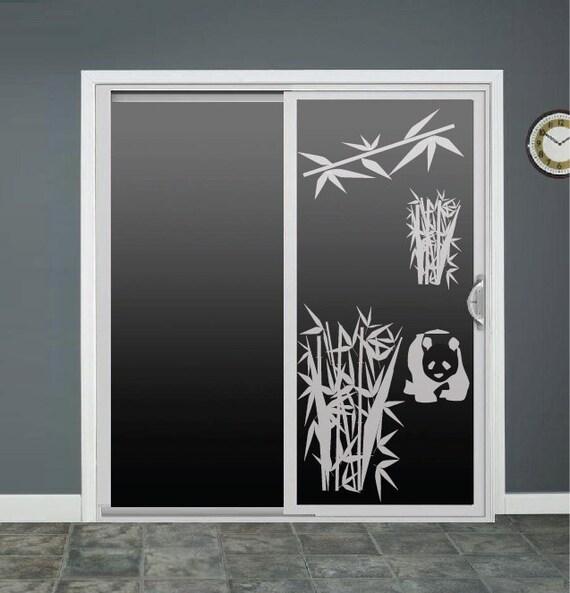 Panda Bamboo Glass Door Decals Window Decal Sliding Door Decal