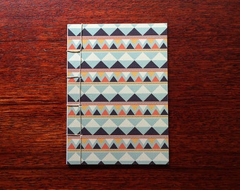 Japanese Bound A6 Notebook 'Kvothe' geometric pattern – 20 pages
