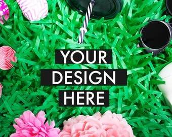 Styled Stock Image | Stock Photo | Green Styled Stock Photography | Summer | Grass | Kids Party | Colorful | Camera | Glasses | Pink