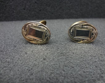 Vintage Oval Cuff links by HWKCO