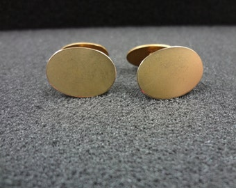 Vintage Double sided Cuff links in Gold Tone Finish
