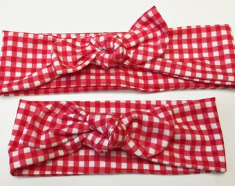 Red Checkered Mommy & Me set