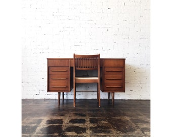 Mid Century Desk with Chair by Flanders