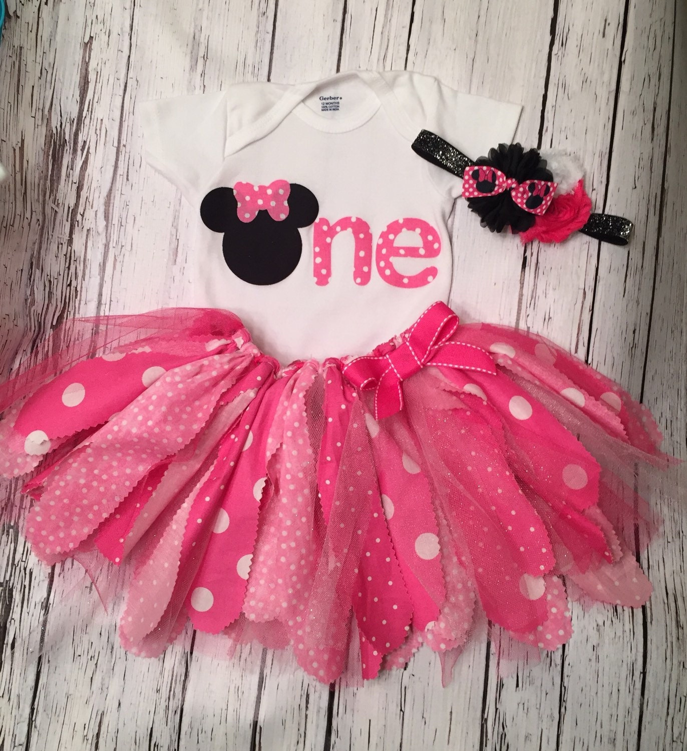 Birthday Party Outfit: Minnie Mouse Birthday Outfit. Minnie First Birthday Outfit
