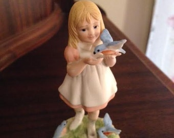 """1980 McClellans """"Alice"""" Limited Addition Bisque Figurine"""