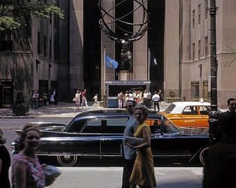 New York 1963 64 Rockefeller Center Atlas Manhattan Street Photo America Vintage Look Arthur von Schwertfuehrer (1891-1967) Limited Edition