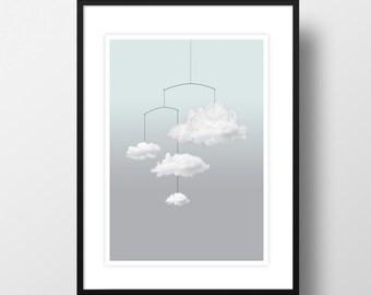 "Artprint ""Cloud mobile"""