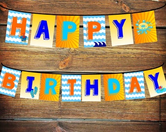 Pool Party Banner, Splash Party Decorations, Splish Splash Birthday Decor, Happy Birthday Banner, Pool Party Decorations, Splish Splash Bday