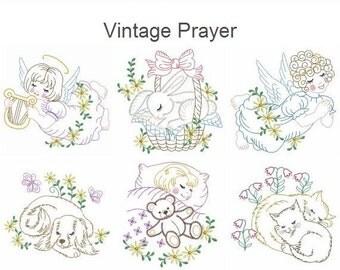 Vintage Prayer Machine Embroidery Designs Instant Download 4x4 5x5 6x6 hoop 10 designs APE2147