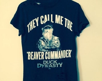 Beaver Commander tee, Black. Mens size small.