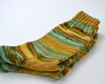 hand knitted wool socks, UK 6,5-8 US 8-9,5