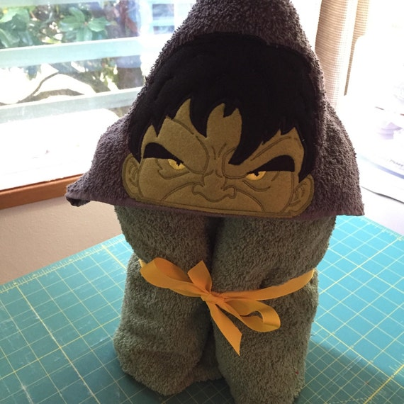 Angry Hero Hooded Towel