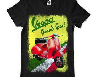 Vespa Moped Men's T-Shirt (SB003)