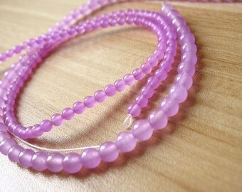 Round Natural Chalcedony Beads Volet Chalcedony Crystal Quartz Ball Bead Wholesale High Quality