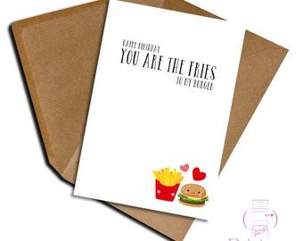 Funny Birthday card Husband Wife Girlfriend Boyfriend you're the ....