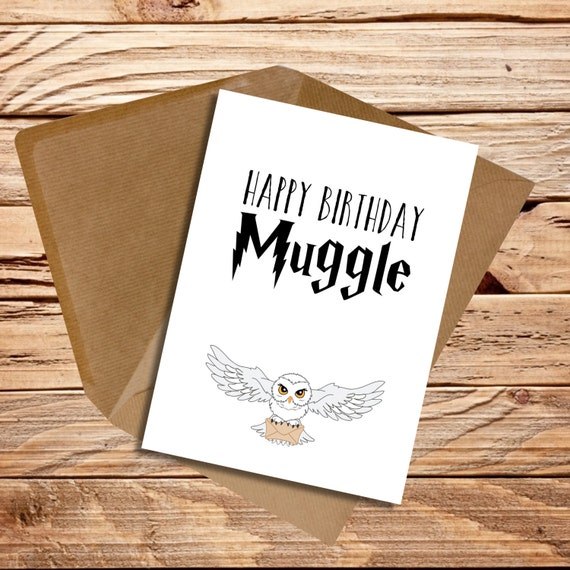 Harry Potter Birthday Cards Free Printable ~ Harry potter themed birthday card happy by printsmadewithlove