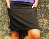 Activewear Hiking Skirts with yoga style waistband and side pockets - Black