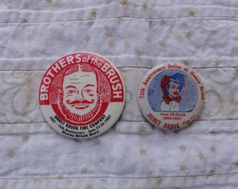 Honey Brook PA Fire Company set of 2 anniversary pins