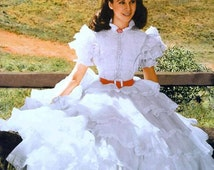 Scarlett O'hara Dress, Inspired By Gone With The Wind Vivien Leigh, Civil War Southern Belle Ball Gown, Historical Wedding Dress, Custom Sew