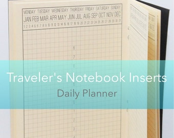 Daily Planner {Personal Size} Printable Traveler's Notebook Insert Booklet