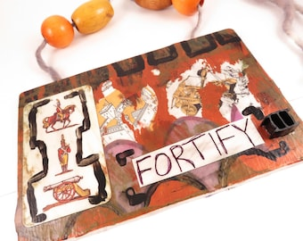 Fortify - Mixed media wall hanging