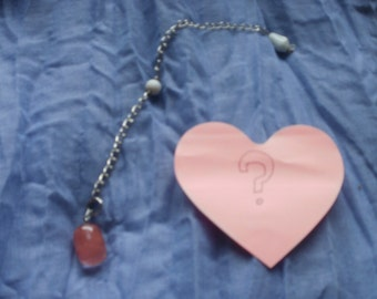 New- Pink Pendulum Yes/No/Maybe Reading --7 Questions