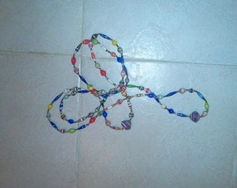 70pcs Recycled paper Beads