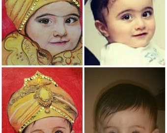 Turn your baby picture into a prince portrait