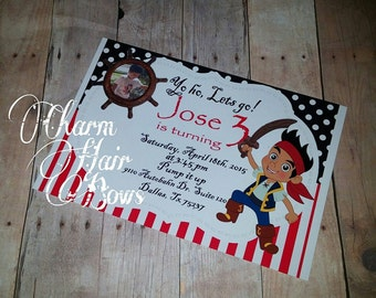 jake the neverland pirate invitation