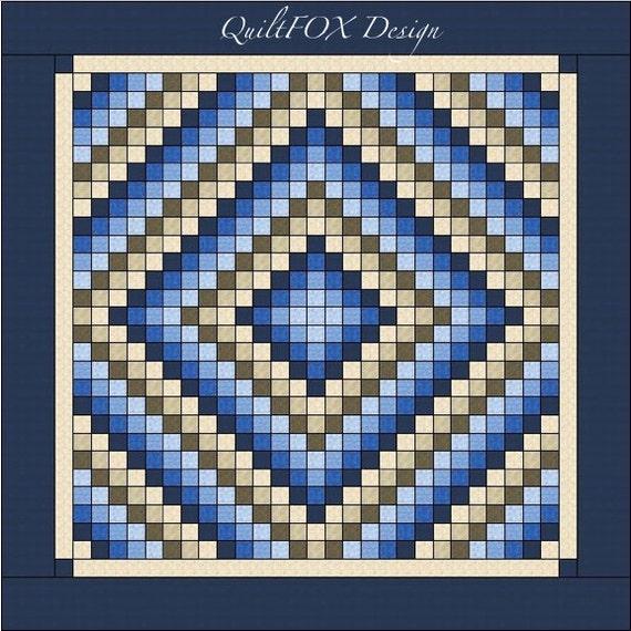 Trip Around The World Quilt Pattern Lap Size : Trip around the World Quilt pattern King size: 105 x