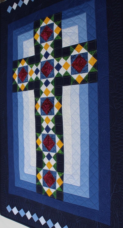 Cross Quilt Pattern Cross In Window Stained Glass Cross
