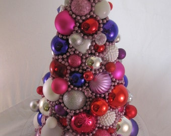Valentine Ornament Tree, Christmas Ornament Tree, Valentine Centerpiece