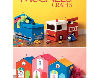 OUT of PRINT McCall's Pattern M6806 Toy Storages