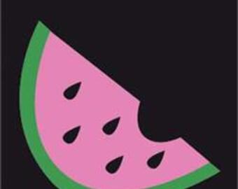 Watermelon Handcrafted Applique Garden Flag