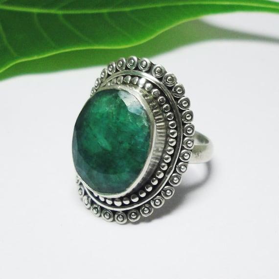 indian emerald gemstone ring by manglainternational