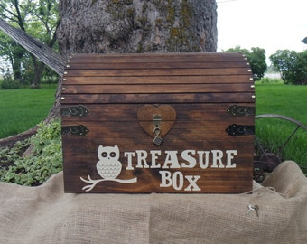 XL Personalized Rustic Treasure Chest, Large Keepsake Chest, Children's Toy Chest, Rustic Wood Chest, Birthday Gift, Wedding Chest