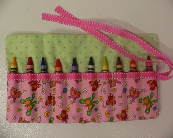 Pretty Pink Roll-10 Crayola Crayons included-Great Birthday Gift or Party Favor