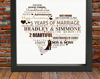 5 Year Wedding Anniversary Gift Ideas Wood : anniversary gift 5 years anniversary gift 5th wedding anniversary gift ...