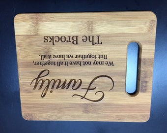 Family Cutting Board - Personalized - Wedding, Birthday, Special Gift