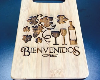 Bienvenidos Cutting Board - Laser Engraved Welcome Board
