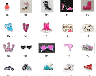 Floating Locket Charms 101-120