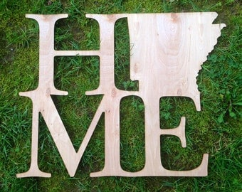 Wooden Home State Sign, Wooden Sign, State Sign