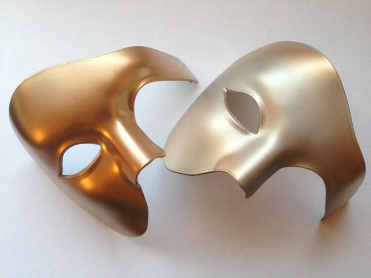 Black Phantom Of The Opera Mens Mask Masquerade by
