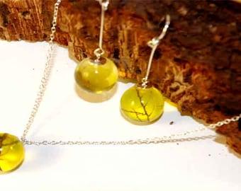 yellow jewellery set