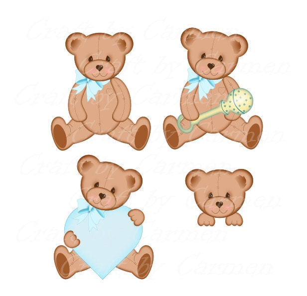 Teddy bear clip art | Etsy
