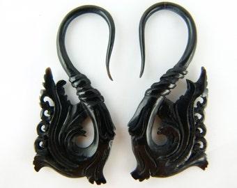 Stretch 12 Gauge Earrings (Pair) - 12g Starter Ear Stretchers Horn - 2mm Starter Gauge Horn Earring - Made of Organic Horn - B031