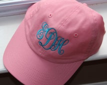 YOUTH Baseball Cap With Monogram --NOW in 9 COLORS- Mother- Daughter/ Father/Son---Flower Girl/ Ring Bearer