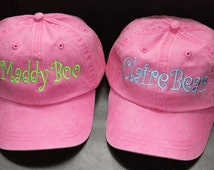 YOUTH Baseball Cap With Monogram Now in 9 Colors / Mother- Daughter/Father/Son-- Flower Girl/ Ring Bearer