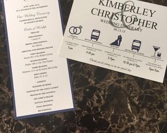 Custom Wedding Itinerary & Program